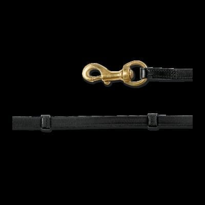 Lædertøjle med stoppere - AWA