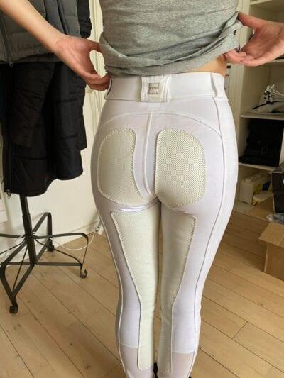 Fits Performax Ridebukser front zip Hvide