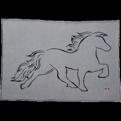 Fleecetæppe med hest Karlslund