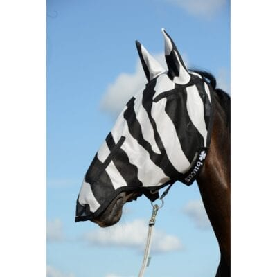 Bucas Buzz-off Zebra Full Face Mask